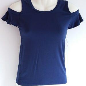 Arizona Drop Shoulder Royal Blue Knit Top